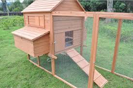 deluxe 12 u0027 wood chicken coop backyard hen house 6 nesting box