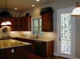 tile backsplash with granite countertops enlightened kitchen
