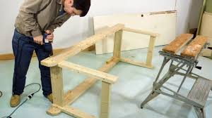 How To Build A Tabletop Jump Out Of Wood by Simple Sturdy Workbench Build Youtube
