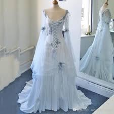 wedding dress blue discount vintage celtic wedding dresses white and pale blue