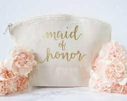 bridal party makeup bags of honor bag etsy