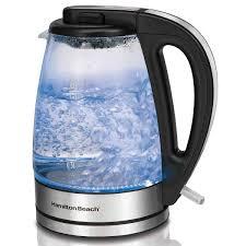 hamilton beach 1 7 liter glass electric kettle 40865
