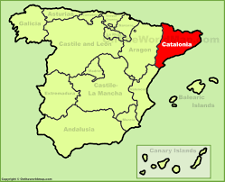 Spain And France Map by Catalonia Maps Spain Maps Of Catalonia
