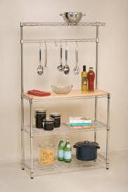 Hanging Bakers Rack Remarkable Kitchen Pot Rack With Lights With Modular Shape Metal