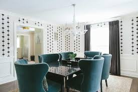 pea blue velvet wingback dining chairs view full size