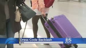 United Luggage by United Airlines Facing Backlash Over Leggings Dress Code Youtube
