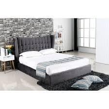 Suede Bed Frame Emperor Grey Suede Bed Ottoman Storage Bed Fads