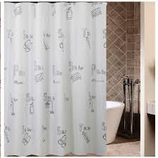 monogrammed shower curtain liner extra long shower curtains