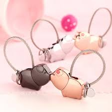 cute key rings images Pig keychain cute key ring for women wire rope key chain couple jpg