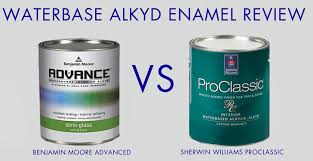 Interior Paint Review Waterbased Oil Enamel Review Advance By Benjamin Moore Paint Vs