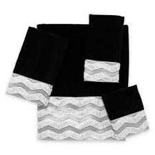 buy black fingertip towels from bed bath beyond
