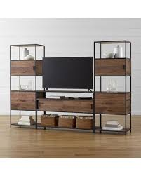 crate and barrel media cabinet savings on crate barrel knox media console with 2 tall storage in