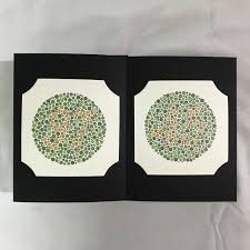 Color Blind Plate Test 38 Plate Ishihara Test Book Color Blindness Dr Shinobu Japan With