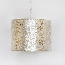 Capiz Light Pendant Capiz Shell Drum Pendant In Gold Floral And Nursery Lighting