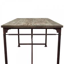 dixon vintage rectangular dining table with weathered