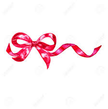 decorative bows watercolor colorful pink isolated decorative bows of ribbon