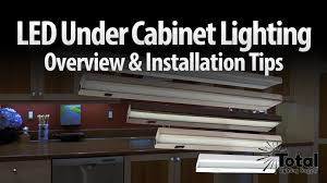 How To Install Lights Under Kitchen Cabinets Led Under Cabinet Lighting Overview U0026 Installation Tips By Total