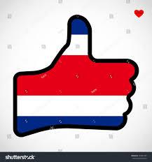 Slovenia Flag Meaning Flag Costa Rica Shape Hand Thumb Stock Vector 723841585 Shutterstock