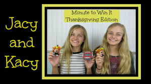 minute to win it challenge thanksgiving edition jacy and kacy