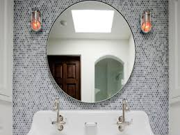 Bathroom Mirror Ideas by Round Bathroom Mirrors Round Mirror With Globe Light Sconcesbest