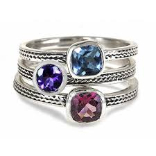 rings with birthstones stackable mothers rings birthstones wheat stacking rings