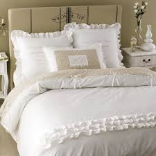 housse de couette hotel parure de lit en coton blanche 240 x 260 cm sans souci maisons