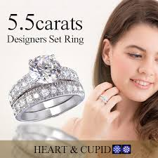 set ring jewelry castle rakuten global market deluxe 5 5 carat diamond