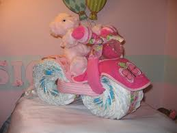 tricycle diaper cake w bear