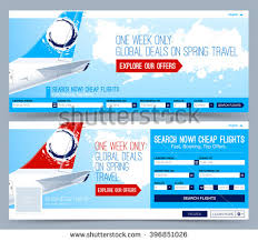 booking tickets flight template search flights stock vector