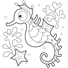 cool seahorse coloring page nice kids coloring 8530 unknown