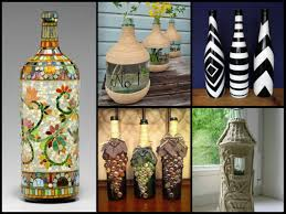 glass bottle decor ideas luxury home design modern and glass