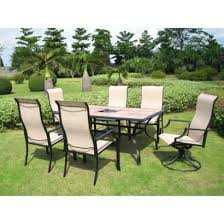 tile patio table set 7 piece tile top metal patio dining furniture set opens in a new