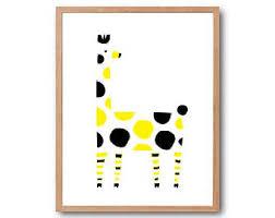 Giraffe Print Home Decor Polka Dot Giraffe Etsy