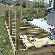 Deck Handrail How To Install 4x4 Posts For Deck Handrails Framing Structure