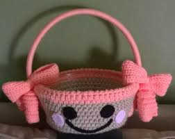 mickey mouse easter basket crochet mickey mouse or minnie mouse easter basket