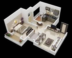 Best Denah Rumah Images On Pinterest Architecture Projects - One bedroom house designs