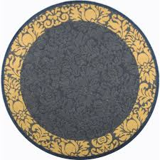 Round Yellow Rug Decorating Lovely Safavieh Rugs With Lovable Motif For Floor