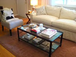 No Coffee Table Living Room What Do I Put On My Coffee Table House
