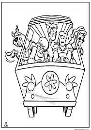 pin magic color book scooby doo coloring pages freec