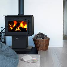 pleasant hearth 1 200 square feet wood burning stove small
