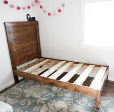 Simple Wood Bed Furniture Ana White Simple Planked Wood Bed Diy Projects
