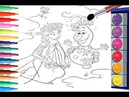 color disney frozen coloring book paint elsa olaf