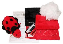 amazon com haan crafts toy ladybug stuffed animal beginner kids