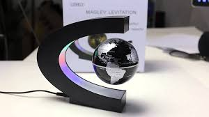 tripleclicks com c shape magnetic levitation floating globe world
