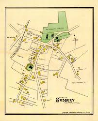 Town Map Of Massachusetts by Historical Maps Of Sudbury