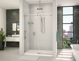 Wood Shower Door by Frameless Glass Shower Doors Design For Bathroom Homaeni Com