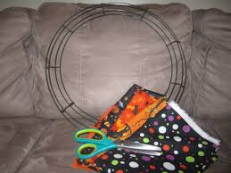 getting crafty halloween rag wreath diary of a working mom