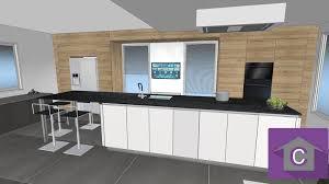 cuisine en ligne 3d plan cuisine en 3d bien cuisine blanche plan de travail noir d
