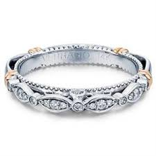 verragio wedding rings verragio pave set two tone gold womens wedding bands