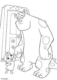 sully monsters colouring pages boo sulley coloring